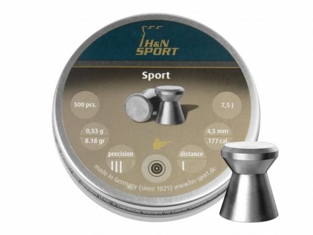 SRUT DIABOLO H&N SPORT GLATT 4,5 MM 50